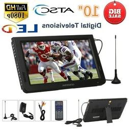 "10"" Inch Portable TFT-LED Digital TV Video Player ATSC 1080P"