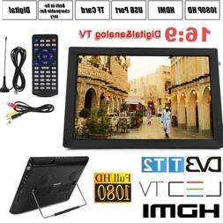"Portable 14"" Digital TV 1080P HD TFT LED Car USB HDMI TV Vid"