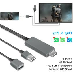 1080P HDMI Mirroring Cable Phone to TV Adapter For iPhone/Sa