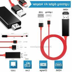 1080P Lightning To HDMI Digital AV TV Cable Adapter For iPad