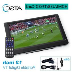 12'' Digital Television ATSC Portable TV 1080P HD HDMI Video