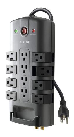 Belkin 12-Outlet Pivot-Plug Surge Protector with 8-Foot Powe