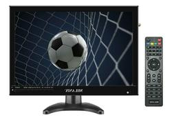"Milanix 14.1"" Portable Widescreen LED TV with HDMI, VGA, MMC"