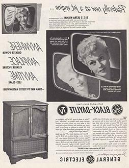 1952 GE Black-Daylite TV: Lucille Ball, General Electric Pri