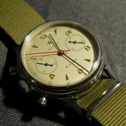1963 Pilot Watch Sea-Gull ST1901 Movement Mechanical Chronog
