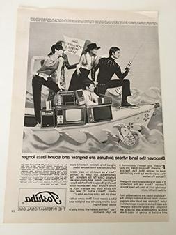1968 Toshiba Portable People Land TV Magazine Print Advertis