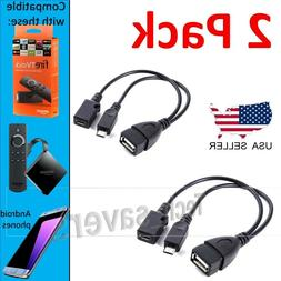 2 Categories PACK USB PORT ADAPTER OTG Cable For FIRE TV 3 2