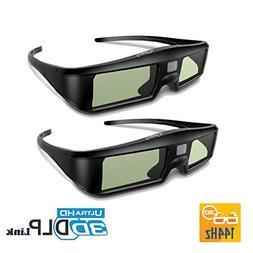 ExquizOn DLP Link 3D Active Shutter Glasses Compatible with