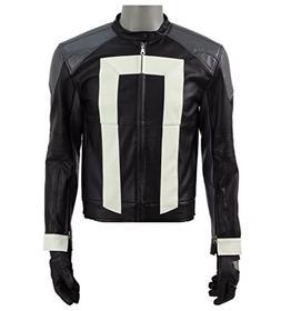 2017 Hot Sci-Fi TV Drama Rider Costume Black Faux Leather Bi