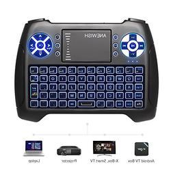 ANEWISH 2.4GHz Mini Wireless Keyboard with Touchpad Mouse C