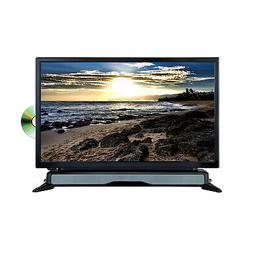 "Axess 24"" Widescreen HD LED TV DVD Combo with SoundBar"