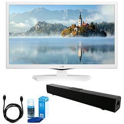 LG 24LJ4540-WU 24-Inch HD LED TV - White  w/ Sound Bar Bundl