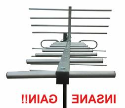 250 Mile Indoor Outdoor HD TV Antenna - DEEP FRINGE CAPABLE!