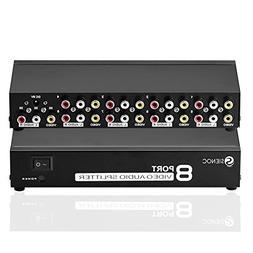 SIENOC 8 Port 3 RCA AV Audio Video TV Box HDTV DVD PS3 Split