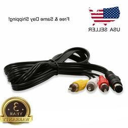 4 Pin S Video to 3 RCA TV Male Cable Lead For Laptop PC Audi