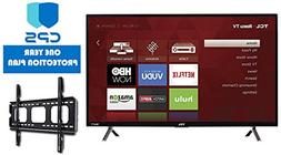 TCL 32S305 32-Inch 720p Roku Smart LED TV   + Wall Mount Bra