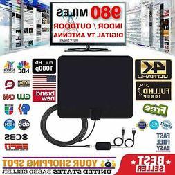 Clear Indoor Digital TV HDTV Antenna  UHF/VHF/1080p 4K