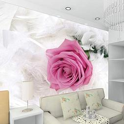 Sykdybz 3D tv Background Wallpaper Goose Feather Rose Photo