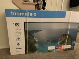 "ELEMENT 55"" Class 4K  UHD Smart LED TV  - Brand New"