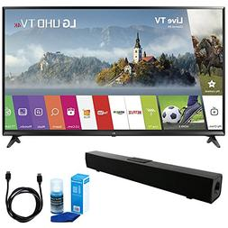 LG 55UJ6300 55-inch 4K Ultra HD Smart LED TV  w/Sound Bar Bu