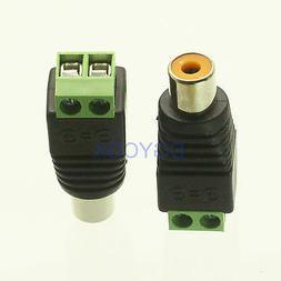5pcs connector RCA TV female jack for CCTV Camera DC Power