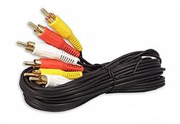 6FT RCA M/Mx3 Audio/Video Cable Gold Plated - Audio Video RC