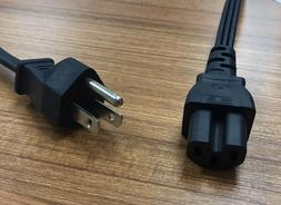 6ft 3 PRONG AC POWER CORD CABLE FOR TV/PRINTER/DESKTOP PC/LC