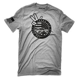 All About the Wave Jeep Wave T-shirt Ash Gray Made in USA of