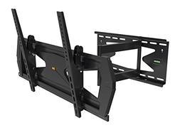 Black Full-Motion Tilt/Swivel Wall Mount Bracket with Anti-T