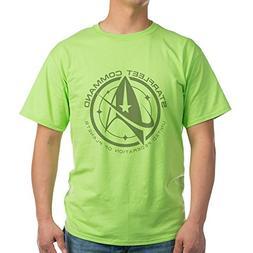 CafePress Grey Starfleet Command Emblem T-Shirt - 100% Cotto