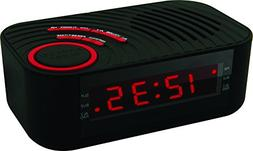 Coby CBCR-100-BLK Digital Alarm Clock with AM/FM Radio and D