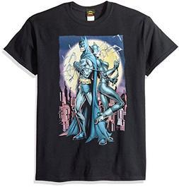 DC Comics Men's Batman Short Sleeve T-Shirt, Red Black, X-La