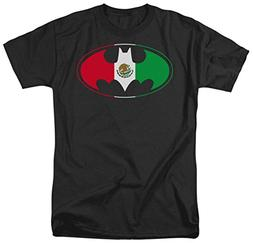 DC Comics Men's Batman Short Sleeve T-Shirt, Shield Black, X