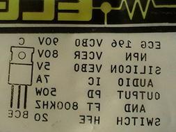 Ecg 196 Silicon Audio Output Transistor Television Replaceme