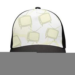 HASIDHDNAC Old Big tvs White Background Fitted caps Unisex