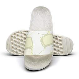HSJDAPOCOAQ Old big tvs white background summer slippers wom