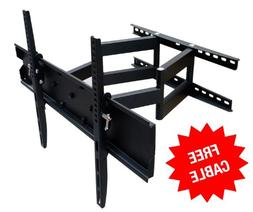 Mount-It! Full Motion TV Wall Mount, Dual Arm Articulating T