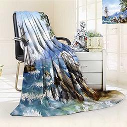 Philiphome DOLLAR Blanket,oil painting sea views wallpaper w