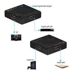 Portta HDMI Mini Switch/Switcher 3 Port 3x1 v1.4 for HDTV 10