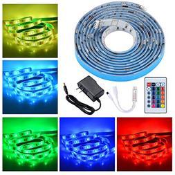 PryEU LED Strip Lights RGB Color Changing Remote Control 2M
