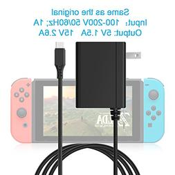 Rocketek AC Adapter Compatible with Nintendo Switch - AC Cha