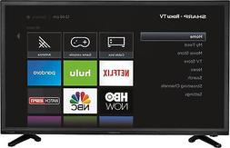 "Sharp - 32"" Class  - LED - 720p - Smart - HDTV Roku TV - Bla"