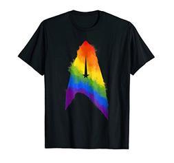 Star Trek Discovery Rainbow Paint Insignia Graphic T-Shirt