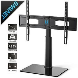 "Tempered Glass Black TV Stand Console Media 32""-55"" with Bra"