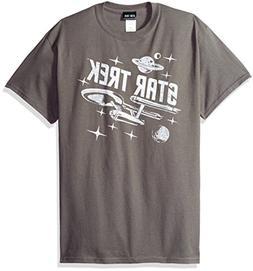 Trevco Men's Star Trek Short Sleeve T-Shirt, Space Charcoal,