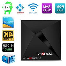 DHong A5X Max Plus Android TV Box, RK3328 DDR3 4G+32G EMMC F