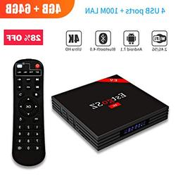 EstgoSZ Android 7.1 TV Box RK3328 Support 2.4G/5G Dual Wifi