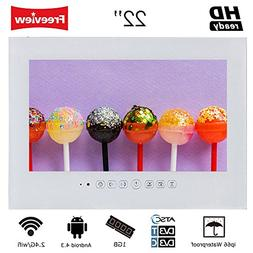 Soulaca 22inch Android Smart White Bathroom Waterproof TV SS