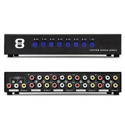 AV Switch Box Composite Selector 8 Port RCA Audio Video 8 In