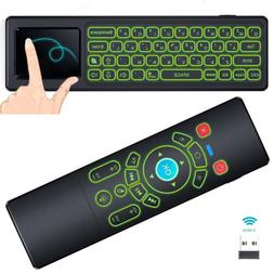 Backlit Gyro Air Mouse Mini Keyboard Remote Control for Andr